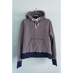J. Crew | Striped Paneled Terry Pullover Hoodie